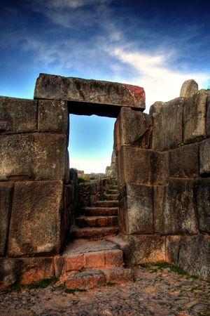 Ruins of Sacasayhuaman outside of Cuzco Stok Fotoğraf
