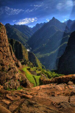 Machu Picchu - Stairway down to Condor