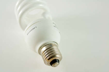 fluorescent light bulb isolated on white background Stock Photo - 4131333