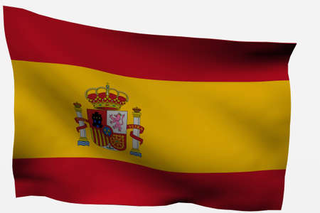 Spain 3d flag isolated on white background photo