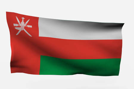 oman background: Oman 3d flag isolated on white background