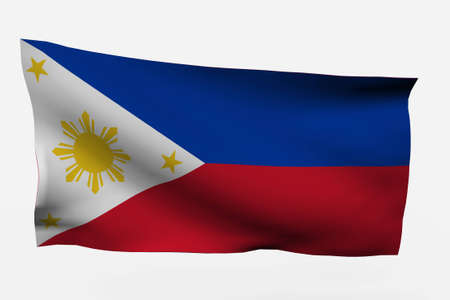 Philippines 3d flag isolated on white background
