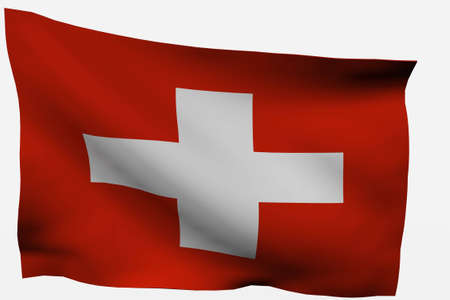 Switzerland 3d flag isolated on white background photo