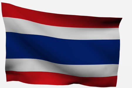Thailand 3d flag isolated on white background photo