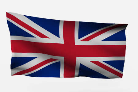 UK 3d flag isolated on white background Stock Photo - 4131447