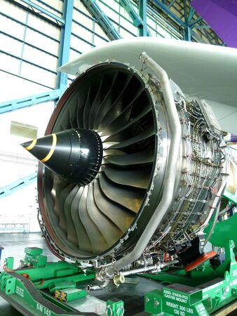 boeing: Turbo Fan Engine Of The Air Plane In Hangar