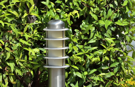 semi conductor: Garden lamp in public park.� Stock Photo