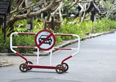Stop sign - stop the car or no pass