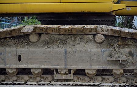 Track of excavator Stock Photo