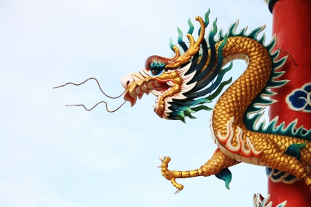 Golden Dragon statue Stock Photo - 14215310