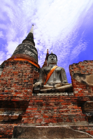 Stone statue of a Buddha in Thailand Stock Photo - 14215345