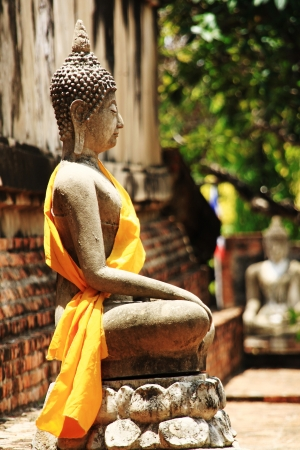 Stone statue of a Buddha in Thailand Stock Photo - 14215322
