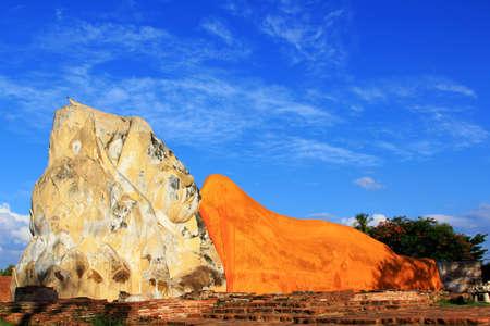 Reclining Buddha at Wat Lokayasutharam, Ayutthaya, Thailand  photo