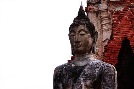 Buddha statue in Wat Mahathat at Ayutthaya,Thailand photo