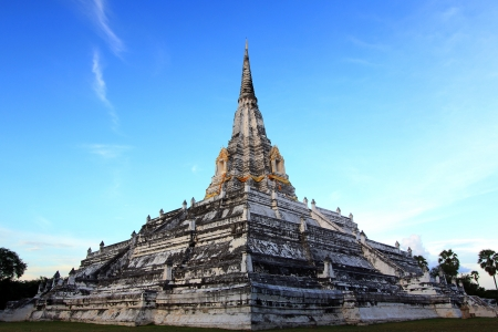 Chedi Phukhao Thong at Ayutthaya in Thailand