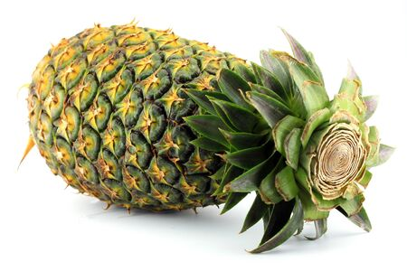 Ripe pineapple fruit Thailand on white background Stock Photo