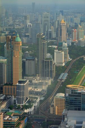 Top view of modern town in bangkok ,thailand photo