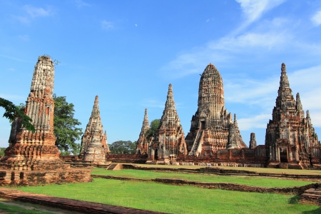Chaiwatthanaram temple  at Ayutthaya in Thailand Stock Photo