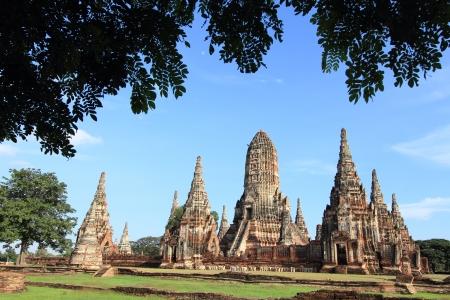 Chaiwatthanaram temple  at Ayutthaya in Thailand Stock Photo