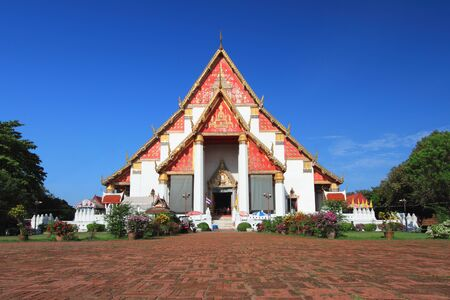 Phra Mongkhon Bophit  sanctuary at Ayutthaya in Thailand