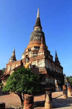 Wat Yai Chai Mongkol at Ayutthaya in Thailand Stock Photo - 15982414