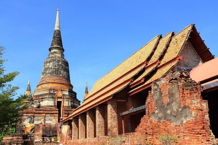 Wat Yai Chai Mongkol at Ayuttaya of Thailand Stock Photo - 15982407