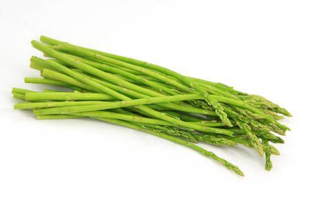 nutritiously: Fresh Asparagus on white background