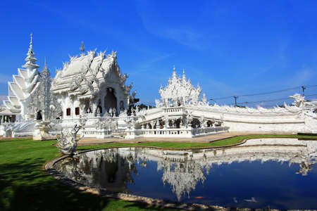 Temple White at Chiang Rai in Thailand