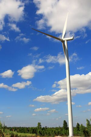 Wind Turbines with blue sky in Thailand Stock Photo - 17211653