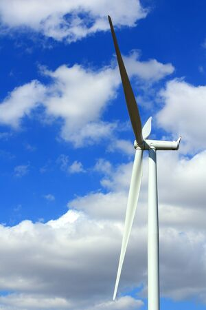 Wind Turbines with blue sky in Thailand  Stock Photo - 17211624