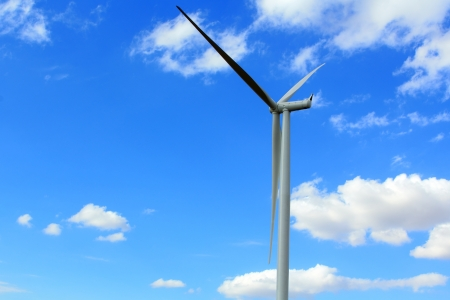 Wind Turbines with blue sky in Thailand  Stock Photo - 17211620