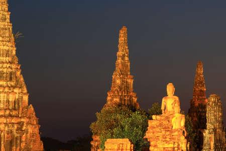 Wat Chaiwatthanaram at twilight in Ayutthaya,Thailand Stock Photo - 17468666