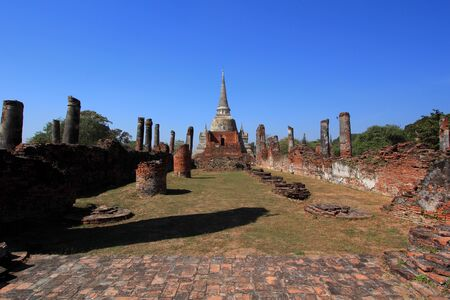 Temple ruins at Ayutthaya in Thailand[Wat Phra si sanphet] Stock Photo - 17468752