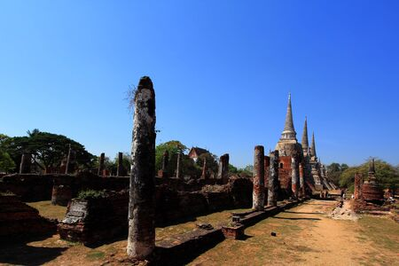 Temple ruins at Ayutthaya in Thailand[Wat Phra si sanphet] photo