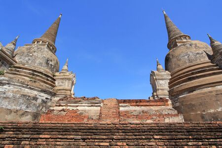 Temple ruins at Ayutthaya in Thailand[Wat Phra si sanphet] Stock Photo - 17468743