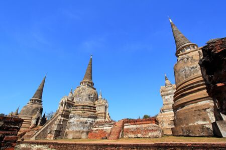 Temple ruins at Ayutthaya in Thailand[Wat Phra si sanphet] Stock Photo - 17468731