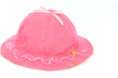 pink hat: Pink hat with white background  Stock Photo