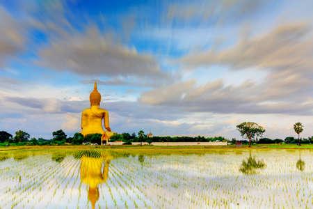 Big Buddha at Angthong in Thailand  Stock Photo - 22638828