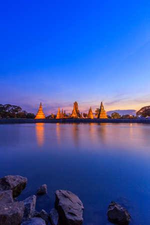 Wat Chaiwatthanaram at Ayutthaya in Thailand