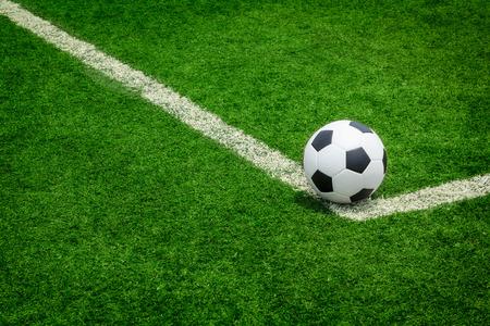 Soccer football field grass line ball  Imagens