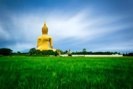Buddha big statue at Wat Muang in Angthong, Thailand