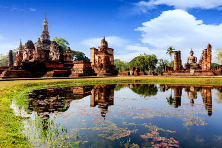 the historical: Sukhothai historical park at Sukhothai province in Thailand