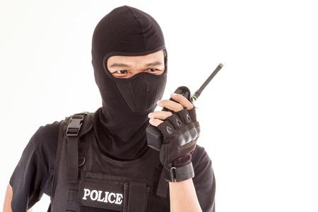 Policeman having radio Imagens - 28986085