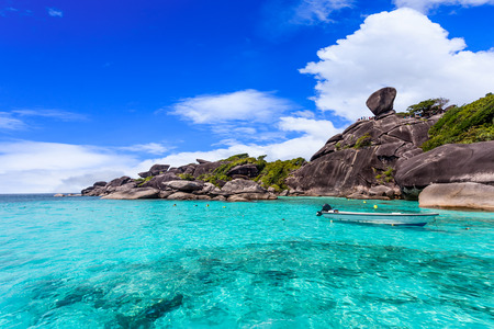 Beach of Similan Islands at Phang Nga in Thailand  Imagens