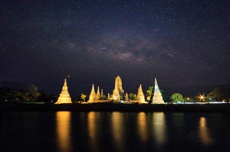 Wat Chaiwatthanaram at Ayutthaya in Thailand Imagens - 28986010