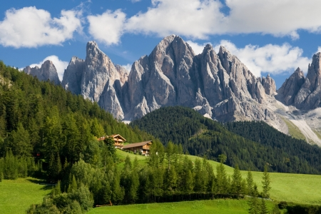 Peaks of the Odle group in the South Tirol, Italy