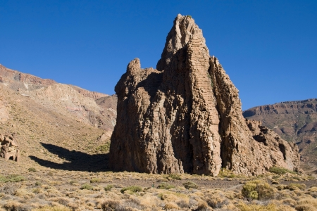 vulcanology: Phonolitic dome of La Catedral  The Cathedral  in the Teide National Park, Tenerife, Canary Islands