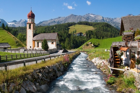 Alpine village of Niederthai in the Otztal valley, Tirol, Austria. photo