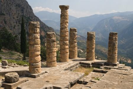 Columns of the Temple of Apollo at Delphi, Greece  photo