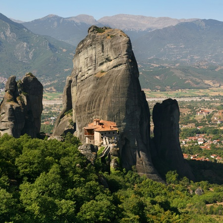 Roussanou monastery in Meteora, Thessaly, Greece  photo